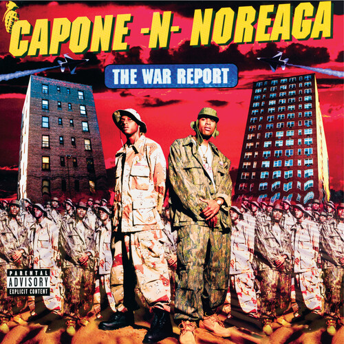 Capone-N-Noreaga - The War Report - Clear with Red & Blue Splatter Vinyl - 2xLP