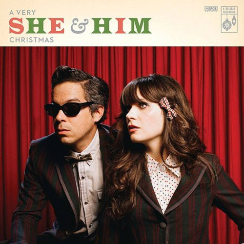 """She & Him - A Very She & Him Christmas - 10th Anniversary Deluxe Tinsel Silver Vinyl - LP + 7"""""""