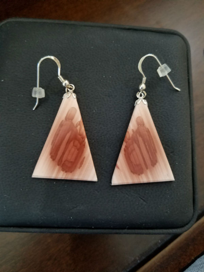 Stunning Alaskan Native crafted Cabochon Earrings cut from the finest Imperial Mexican Jasper to make this unique earring set.