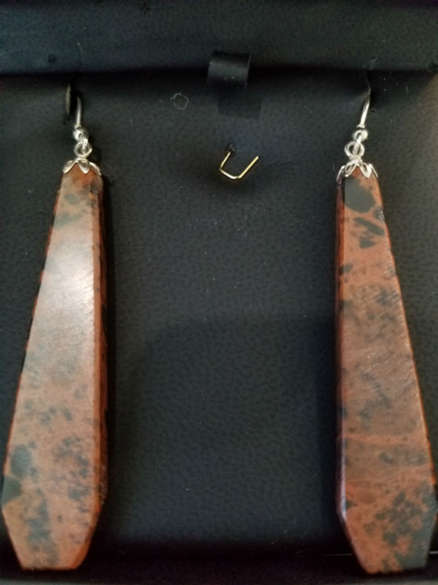 Stunning Alaskan Native crafted Cabochon cut from Australian Pilbara Jasper to make this unique earring set