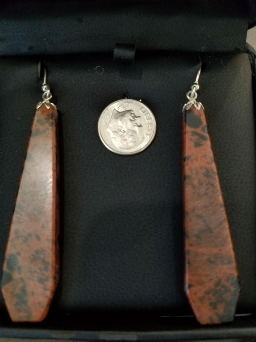 Stunning Alaskan Native crafted Cabochon cut from Australian Pilbara Jasper to make this unique earring set