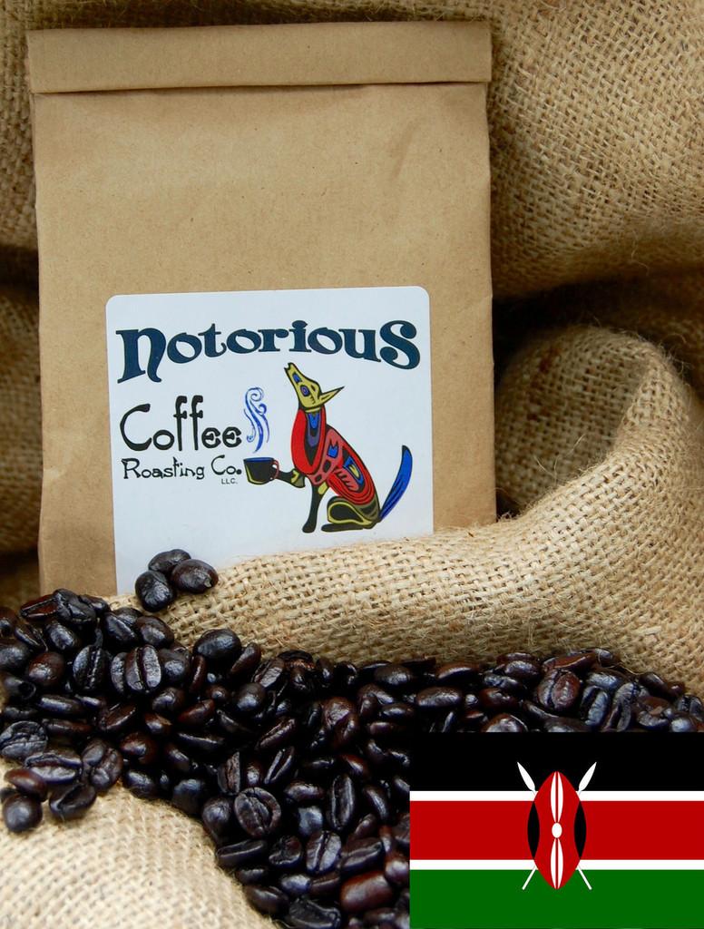 Coffee with Kenya flag