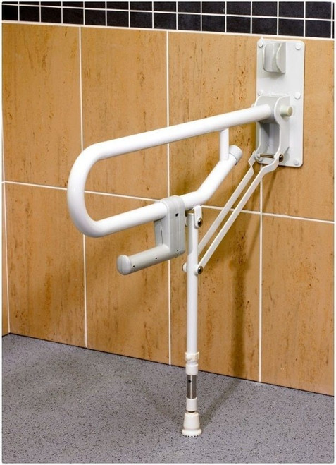 ARC ARC GB1830-WH Fold-Up Support, Adjustable Leg - White