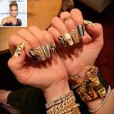 Jennifer Lopez Wearing Her Initial Diamond Rings