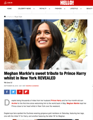 Meghan Markle's Sweet Tribute to Prince Harry Whilst in New York REVEALED
