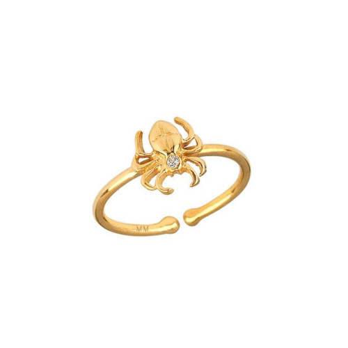 Diamond Accent Eye-catching Spider Design Adjustable Ring (Style#10918)