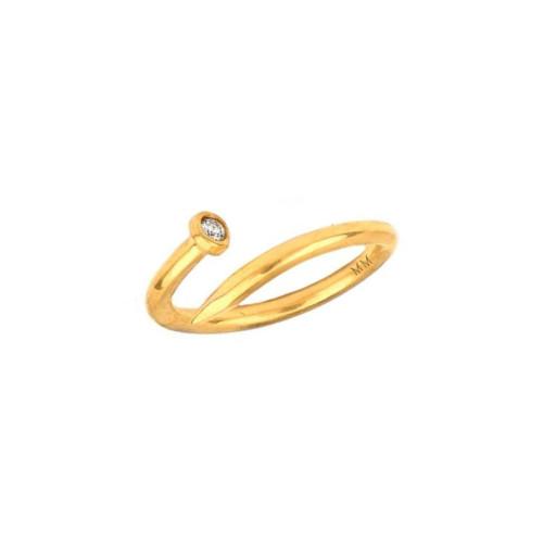 Brilliant Diamond Accent Unique Nail Wrap Around Adjustable Ring (Style#10988)