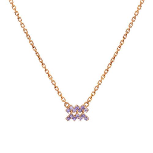 Gold Stunning Birthstone Gemstone Zodiac Classy Necklace (Style#10801-10812)