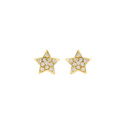 Impressive Diamond Cluster Accented Star Shape Earrings (Style#10920)