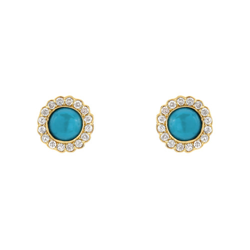 Elegant and Stunning Diamond Halo Post Earring (Style#11865)
