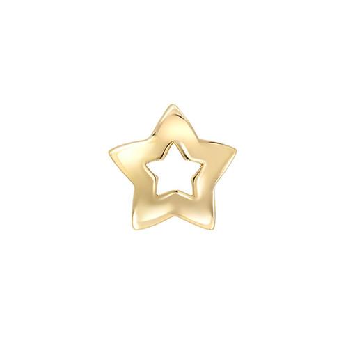 Trendy 3 Dimensional Star Design Sliding Pendant (Style#11866)