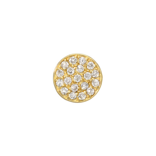 Impressive Diamond Cluster Accented Circle Shape Earrings (Style#11867)