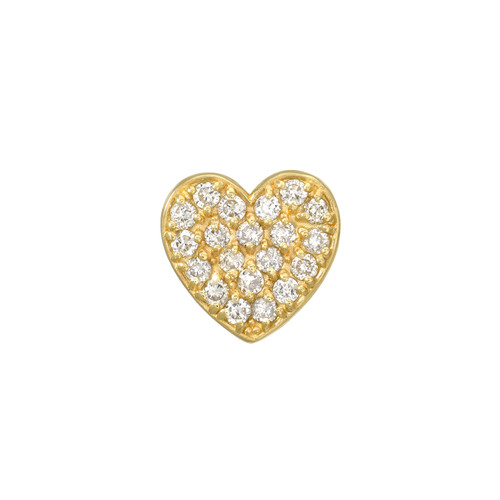 Impressive Diamond Cluster Accented Heart Shape Earrings (Style#11868)