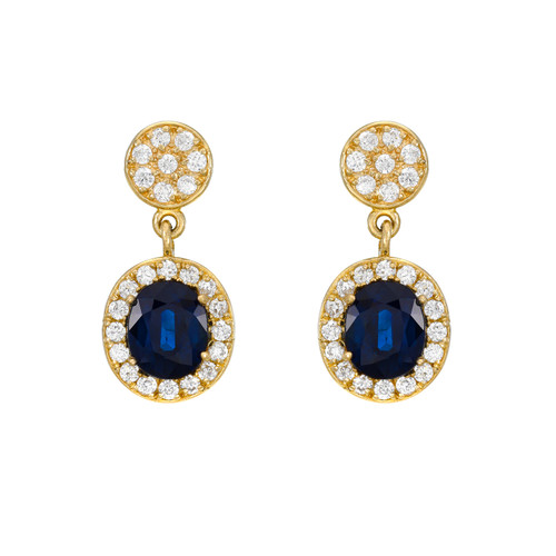 Stunning and Diamond Halo Dangling Post Earring (Style#11908)
