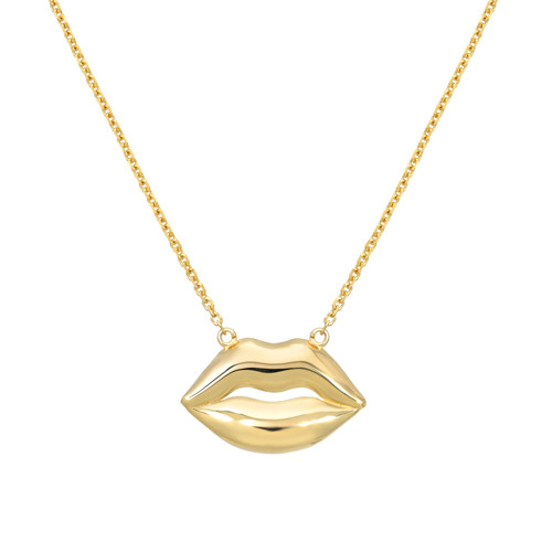 High Polish Sexy Lips Necklace (Style#11900)