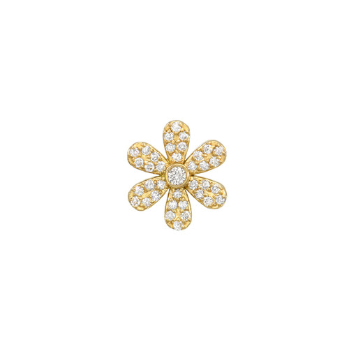 Brilliant and Diamond Accented Daisy Post Earring (Style#11902)