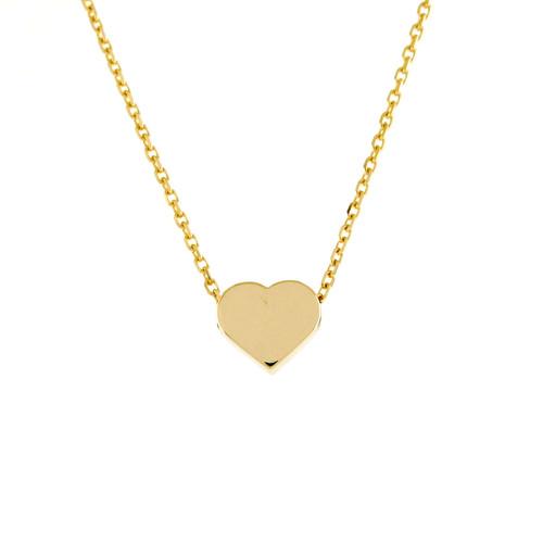Solid Heart Shape High Polish Ladies Trendy Floating Pendant (Style#11861)
