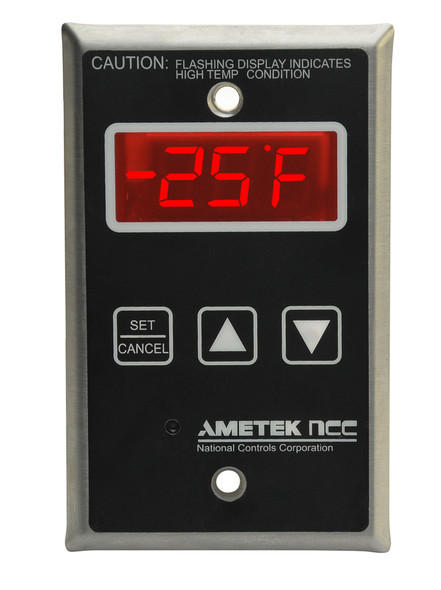 Industrial Digital Thermometer, Panel Mount, Model TM165