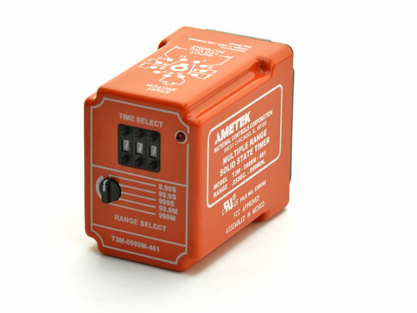Industrial Time Delay Relay, Multi-Range Delay on Break, Retriggerable T3M Series