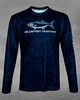 Men's Navy Surf Bluefish Hunter UPF 50+ Long Sleeve Performance Shirt