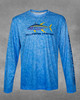 Ocean Blue Yellowfin Hunter UPF 50+ Long Sleeve Performance Shirt