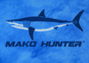 444 Sportswear Deep Blue Mako Hunter UPF 50+ Performance Shirt Detail