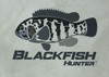 444 Sportswear Venetian Grey Blackfish Hunter UPF 50+ Performance Shirt Detail