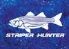 444 Sportswear Marine Mist Striper Hunter UPF 50+ Performance Shirt Detail