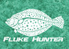 444 Sportswear Turquoise Dream Fluke Hunter UPF 50+ Performance Shirt Detail