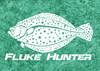 444 Sportswear Turquoise Dream Fluke Hunter UPF 50+ Performance Shirt Detail