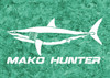 444 Sportswear Turquoise Dream Mako Hunter UPF 50+ Performance Shirt Detail