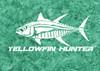 444 Sportswear Yellowfin Hunter UPF 50+ Performance Shirt Detail