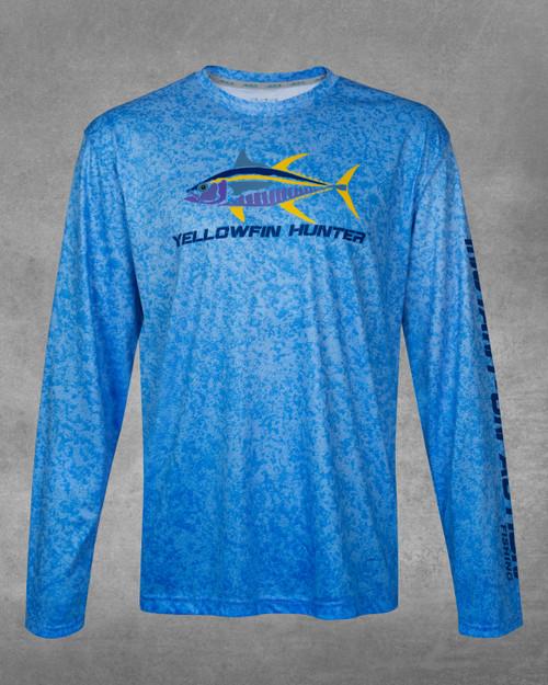 Ocean Blue Yellowfin Hunter UPF 50+ Long Sleeve Performance Shirt