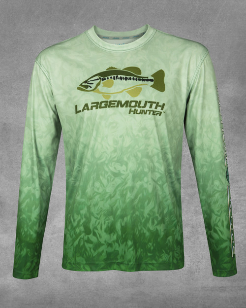 Bass Grass Largemouth Hunter UPF 50+ Long Sleeve Performance Shirt
