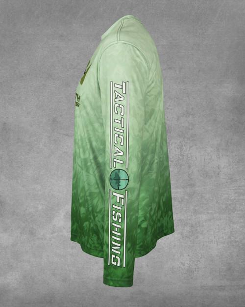 Bass Grass Largemouth Hunter UPF 50+ Long Sleeve Performance Shirt