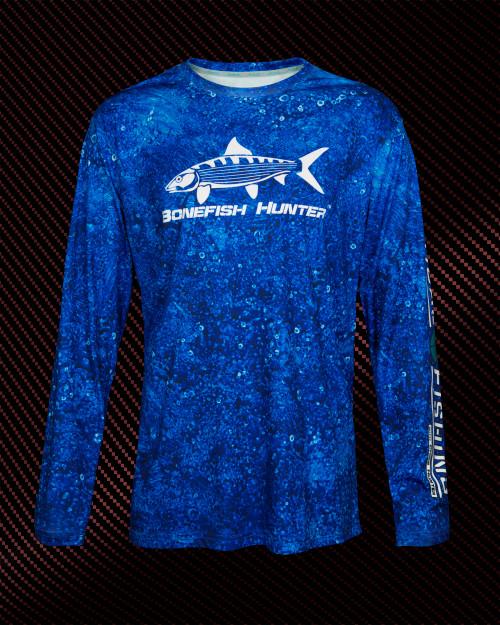 444 Sportswear Marine Mist Bonefish Hunter UPF 50+ Performance Shirt Front