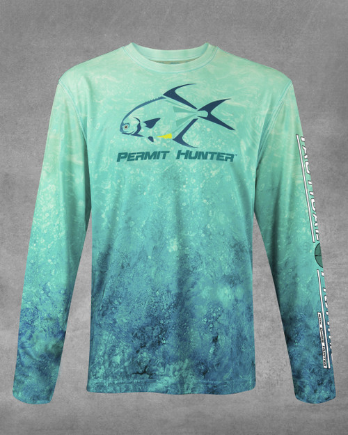 Flats Green Permit Hunter UPF 50+ Long Sleeve Performance Shirt