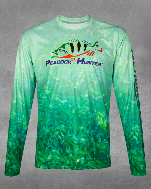 Sea Weed Peacock Hunter UPF 50+ Long Sleeve Performance Shirt