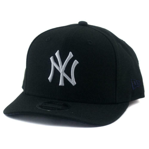 New York Yankees New Era MLB 9Fifty Pre-Curved Hat  In Black