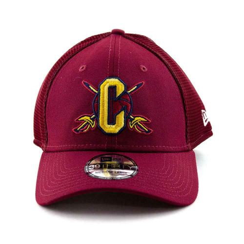 Cleveland Cavaliers New Era Cap NBA 39Thirty Curved Brim Hat in Burgundy