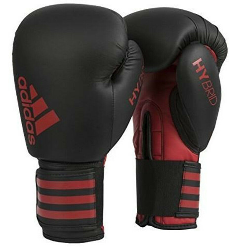 Adidas Hybrid 50 Boxing Training Gloves / MMA Black/Red In 12oz or 16oz