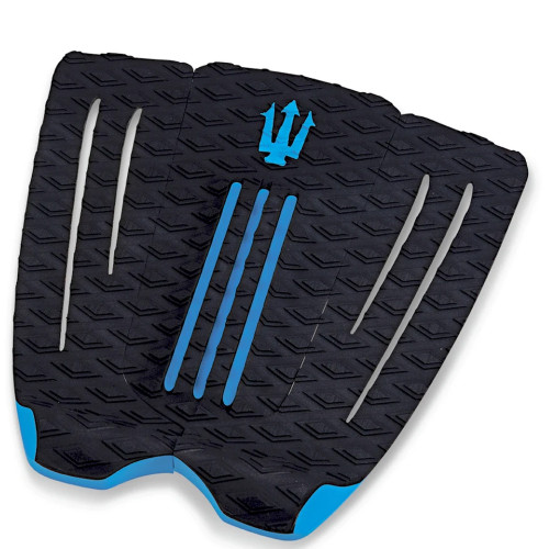 Far King Cheetah 3 Piece Dynamic Diamond Traction Surfboard Tail Pad Black/Blue