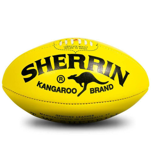 Official Game Ball  AFL - KB Premiership Size 5 In Yellow From Sherrin