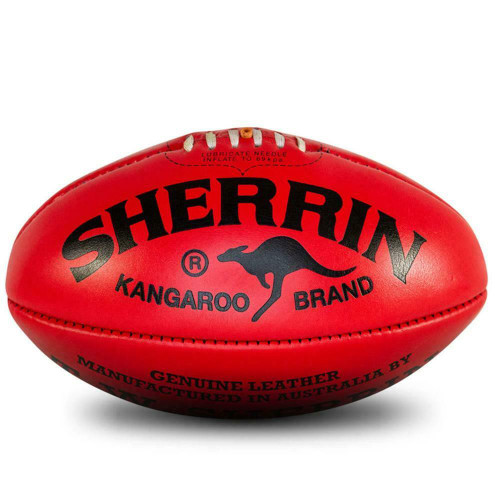 Official Game Ball Of The AFL - KB Premiership Size 5 From Sherrin
