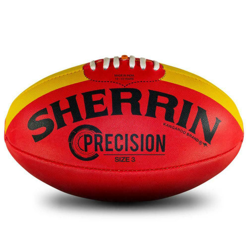 Sherrin Precision Size 3 AFL Football Red With Yellow