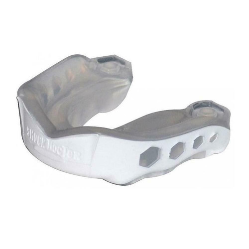 Shock Doctor Gel Max Mouthguard In White - Youth Aged 10 & Below
