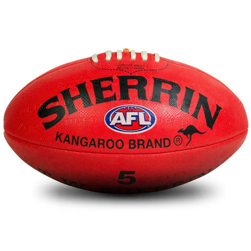 Sherrin KB Synthetic AFL Football In Red Size 5