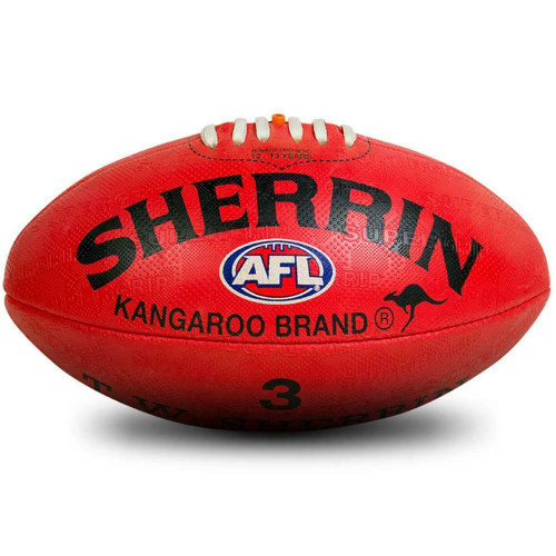 Sherrin KB Synthetic AFL Football In Red Size 3