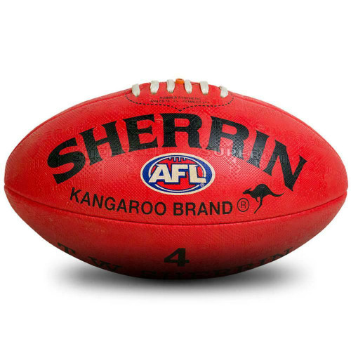 Sherrin KB Synthetic AFL Football In Red Size 4