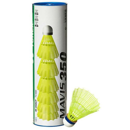 Yonex Mavis 350 (6) Nylon Badminton Shuttlecocks Yellow - Blue Cap